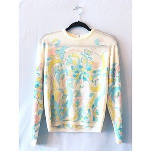 Vintage pastel long sleeved top